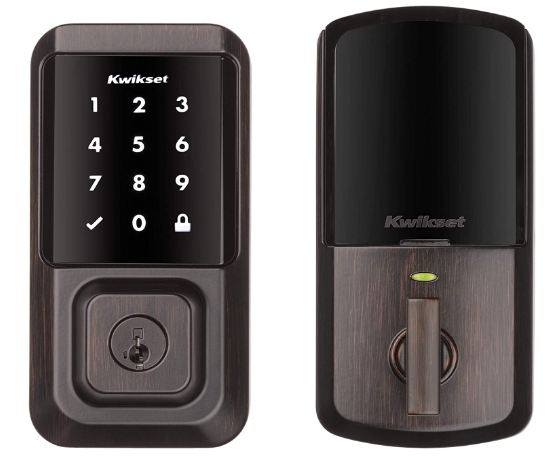 Kwikset 99390-002 Halo Wi-Fi Smart Lock Keyless Entry Electronic Touchscreen Deadbolt Featuring SmartKey Security, Venetian Bronze